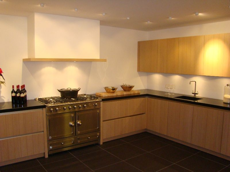Eiland keuken landelijk - Keuken met granieten werkblad ...